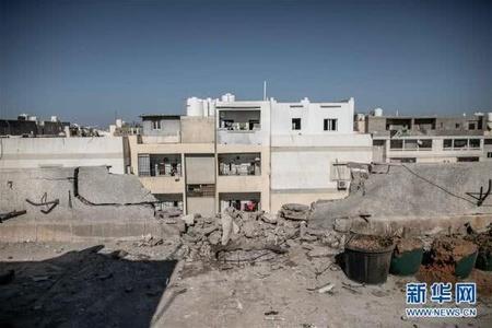 利比亚首都机场因火箭弹袭击关闭 现场曝光