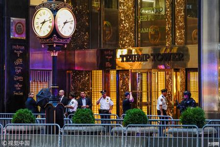 特朗普大厦现可疑包裹 警方炸弹小组出动