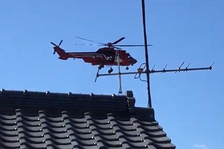 日本救灾直升机失误 77岁女子空中坠落