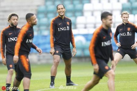 荷兰备战欧预赛一片欢声笑语