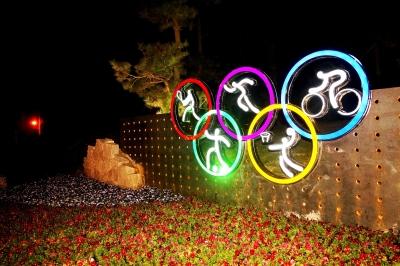 如何绘制奥运五环