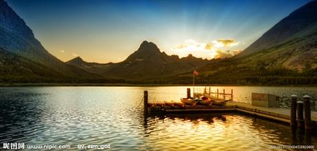 美丽山水 湖边美景