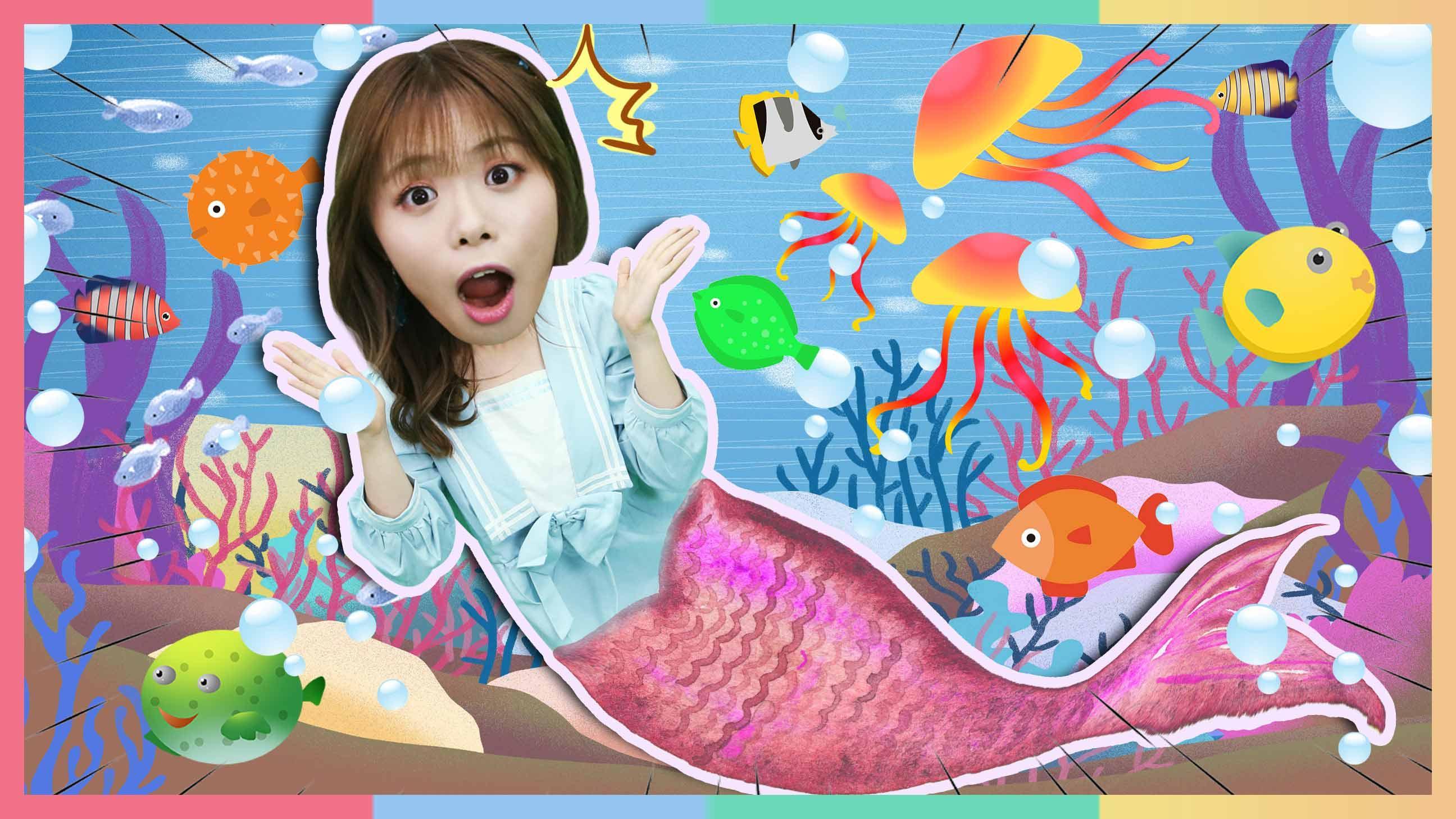 人鱼公主朱莉的海底一日游~和可爱的海洋动物们一起玩耍吧 | 凯利和玩具朋友们 CarrieAndToys