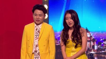 韩国选手不远千里表演惊艳魔术,原创歌曲《wiggle wind》律动全场获得黄金按钮