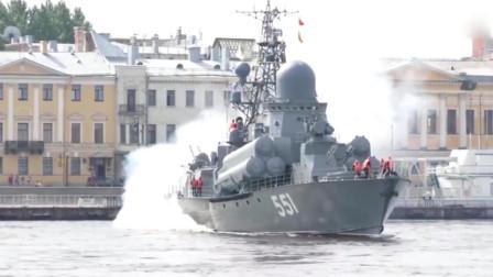 俄海军纳努契卡级导弹艇出海巡逻,这烟有点大啊!